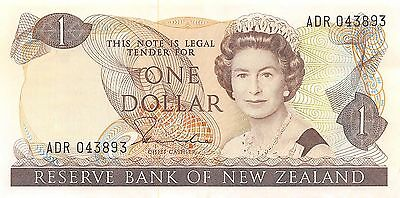 New Zealand  $1 ND. 1981  P 169a Series ADR  circulated Banknote