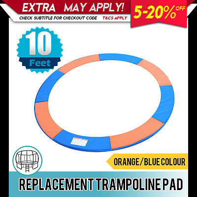 Replacement Trampoline Pad Round Reinforced Safety Spring Cover 10FT Orange/Blue