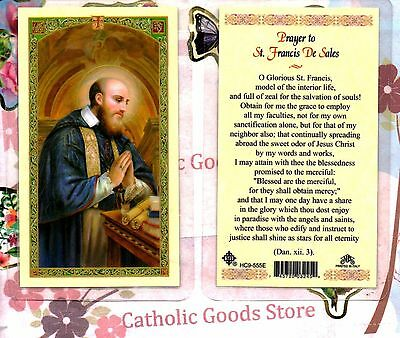 Prayer to St. Saint Francis De Sales - Laminated Holy Card