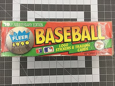 Fleer© 1990 Baseball Card Complete Set 660 Cards + Stickers 10th Anniversary MLB