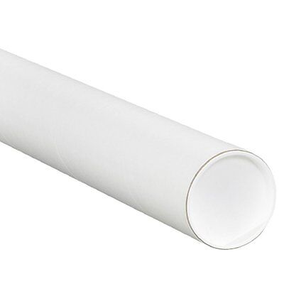 "Aviditi P3024W Fibreboard 3-Ply Spiral Wound Mailing Tube with Cap, 24"" Length x"