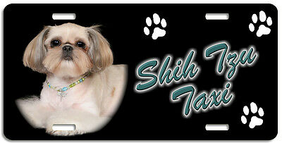 Shih Tzu 4 Taxi Line License Plate (( LOW CLEARANCE PRICE ))