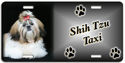 Shih Tzu 3 Taxi Line License Plate (( LOW CLEARANCE PRICE ))