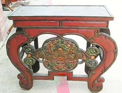 Painted TIBETAN Console TABLE Chinese Entry Table Asian Furniture 44 x 36