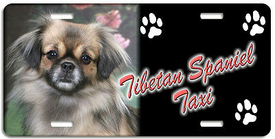 Tibetan Spaniel 1 Taxi Line License Plate (( LOW CLEARANCE PRICE ))