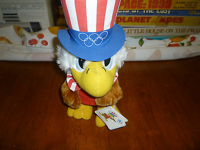 Vintage 1984 Olympics Sam the Eagle Plush Mascot new with Original Tags