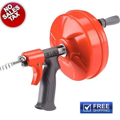 NEW Ridgid Plumbing Power Spin Drain Cleaner Snake Auger Cable Tool Cleaning