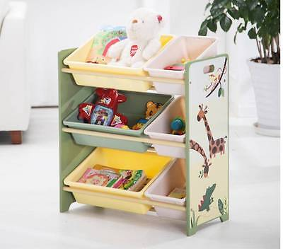 NEW XML Kid Wooden 3-Tier Toy Rack Storage Box Organizer (SL-008 Boy)