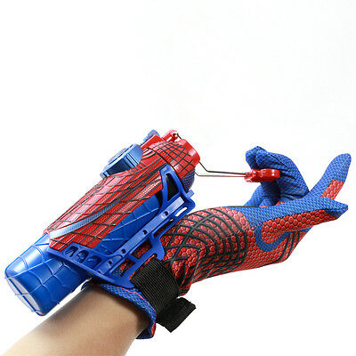 Marvel Amazing Spider-man Costume Gloves Accessories + Cobwebs Ejector Cosplay