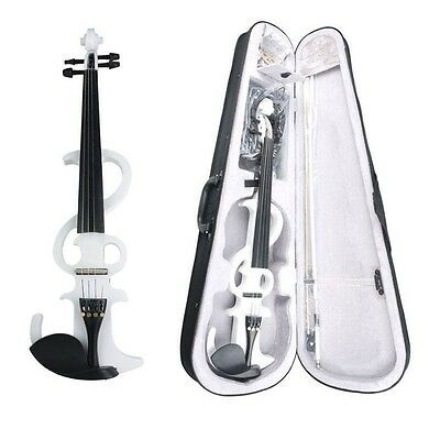 4/4 Electric Violin +Bow +Case+Rosin+Bridge+Cable+Headphone Silent Violin SET