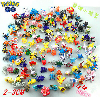 6-144pcs Pokemon Monster Mini figure 2-3cm Action Figures in Cute Toys  Random