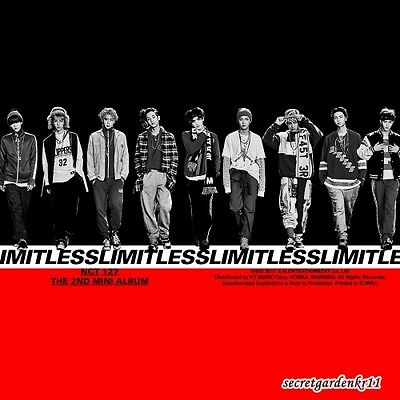 NCT127 NCT #127 LIMITLESS 2nd Mini Album : CD+Postcard+Sticker+Poster+Gift Photo