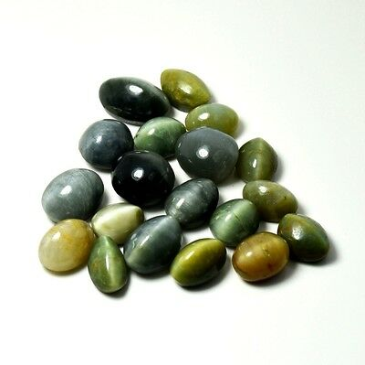Lovely Oval Shape Natural Cat's Eye Loose Gemstone Mix Lot 25 Ct