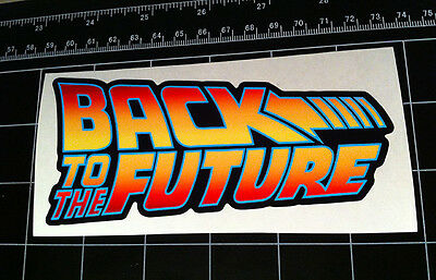 Back to the Future movie logo style decal / sticker bttf Marty Mcfly Delorean