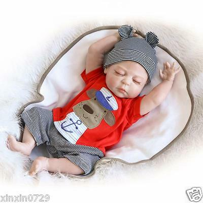 "New Full Body Silicone Simulation 23""Reborn Baby Doll Realistic Newborn Baby"