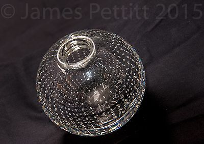 Scandinavian Controlled Bubble Glass Candle Stick / Holder