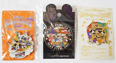 Disney Pins Lot of 3 Mickey Mouse & Friends [Minnie Donald Daisy Goofy Chip Dale