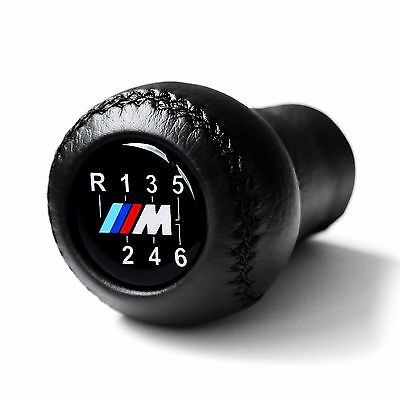 Bmw Mtech 6 Speed Gear Shift Knob E60 E90 E92 E91 E46 M3 M5 M6 Leather New