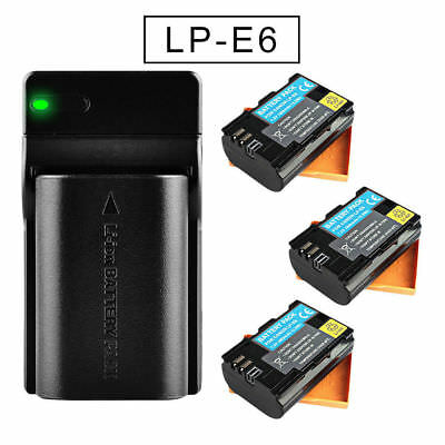 Fully decoded Battery for Canon LP-E6 EOS 70D 7D 60D 5D Mark II III 6D 60Da 80D