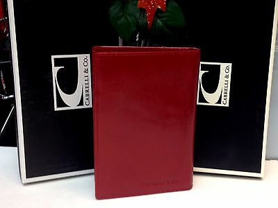 Men Bifold Italian Leather Wallet  Card Case Cabrelli & Co  Red NWT