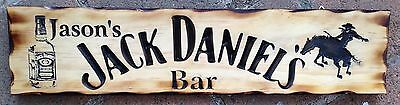 Personalised Jack Daniel's Rodeo Horse Bar Rustic Pine Timber Sign 600mm x 140mm