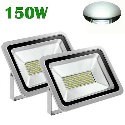 2X 150W Cool White LED SMD Flood light Outdoor Wall Spot Lamp  Floodlight 240V