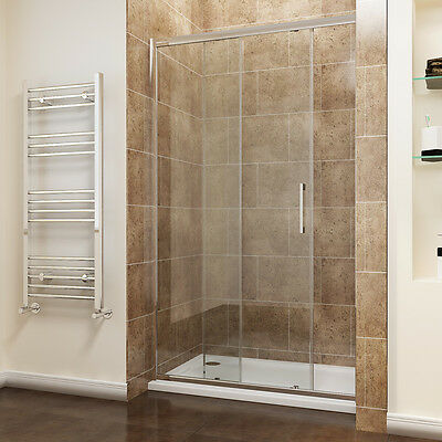 Sliding Shower Door Enclosure Walk In Shower Cubicle 8mm Easy Clean Glass Tall