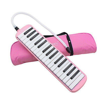 32 Piano Keys Melodica for Music Lovers Beginners Gift with Carrying Bag Pink