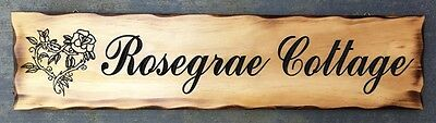 Personalised MADE TO ORDER Rustic Pine Timber Sign 600mm x 140mm