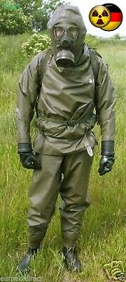 New !  Complete Outfit   Nbc Hazmat Suit Bundeswehr .with Gas Mask M65Z