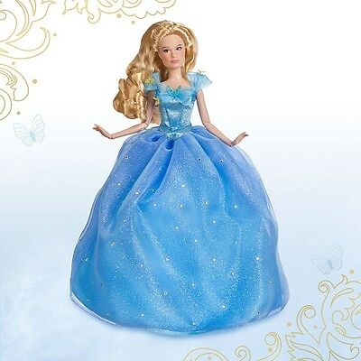 Disney Store Cinderella Live Action Film Movie Blue Ball Gown Doll **SOLD OUT**