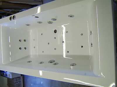 Whirlpool 28 Jet Hydro system CUBE 1800 x 800 Bath with  Colour Changing Light