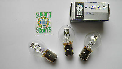 Standard 12V Front Bulbs - Set Of 3. Ideal For Lambretta/vespa Any Scooter