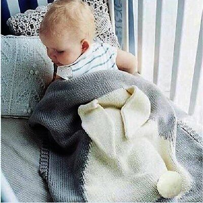 Newborn Baby Infant Kids Rabbit Blanket Bedding Towel Cover Throw Swaddle Wrap