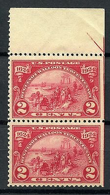 USA 1924 Huguenot-Walloon Tercentenary 2c IMPERFORATED Right side MNH ** Sc #615
