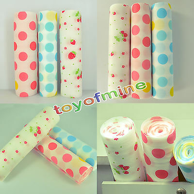 300mm Cute Polka Dots Shelf Contact Paper Kitchen Table Cabinet Drawer Liner Mat