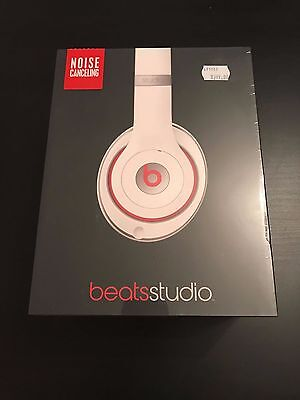 Beats by Dr. Dre Studio Headphones - White/Red
