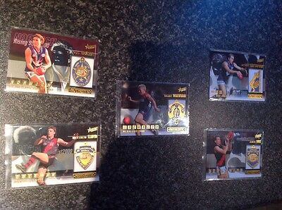 FULL SET 5 x MEDAL CARDS 2001 AFL AUTHENTIC SELECT CARDS AUSSIE RULES FOOTBALL
