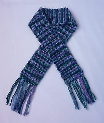 Blue and Purple Knit Baby Scarf Photo Prop Winter Child Accessories Scarves Girl