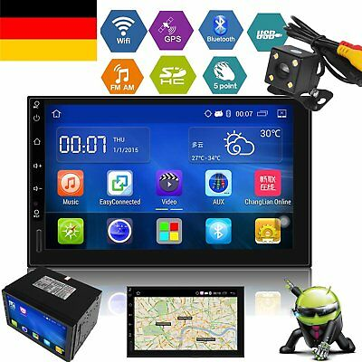 "7"" 2 Din Autoradio Android 5.1 Quad Core GPS NAVI WIFI 3G BT RDS USB GPS +Camera"