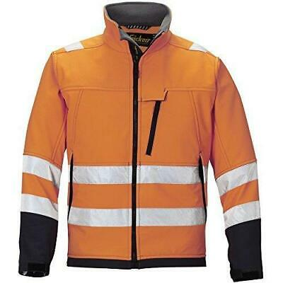 Snickers 1213 Orange High-Vis Soft Shell Jacket, Class 3