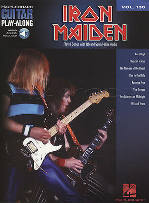 Iron Maiden Guitar Play-Along TAB Music Book with Audio Aces High Running Free
