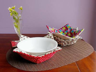 Microwave Dishes Heat Protector Hot Bowl Cotton insulated holder