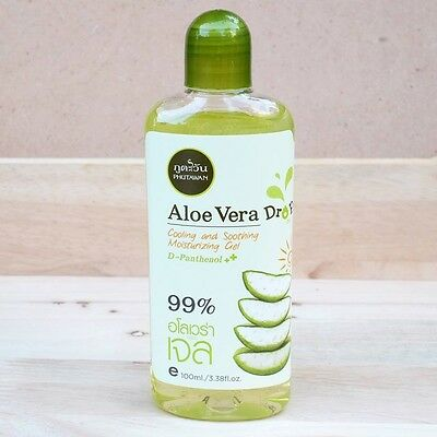 Natural 99% Aloe Vera Drop Cooling Body Soothing Moisturizing Gel After Sun