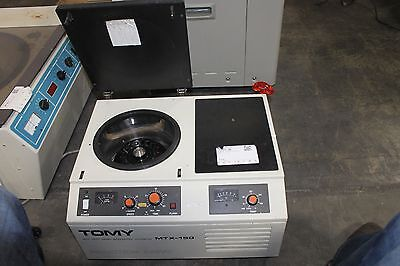 Tomy High Speed Micro Refrigerated Centrifuge Mtx-150 Working