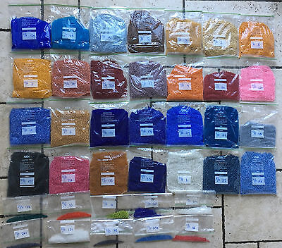 11/0 Beads Huge job lot 12KG assorted colours packed and labelled