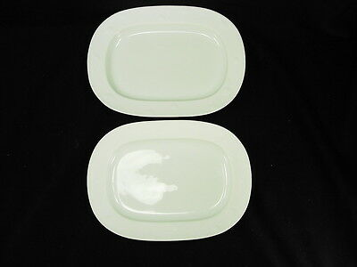 Pair Of Genuine Lalique Limoges Deux Fleurs Pickle Dishes New Old Stock!!