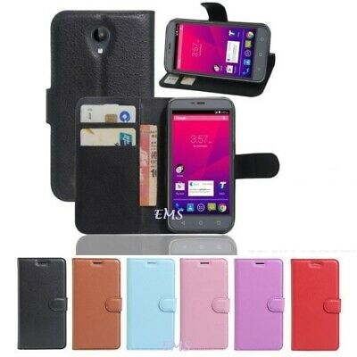 Premium Wallet Leather Flip PU Case Cover For Telstra 4GX PLUS / ZTE Blade A462