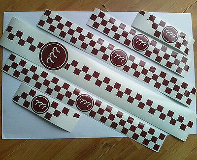 Vespa Piaggio racing numbers vinyl sticker kit checkered graphics chequer decals