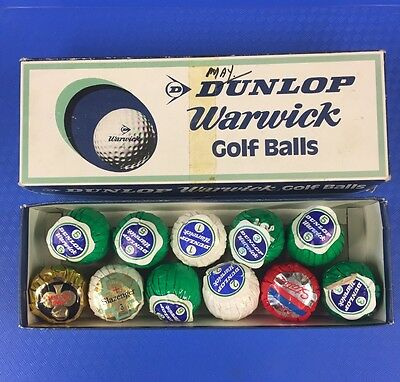 New Old Stock Dunlop Warwick Golf Balls Boxed